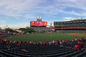 Angel Stadium from Third Baseline Before Game