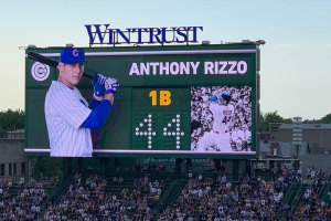 Anthony Rizzo on scoreboard - June 24, 2019