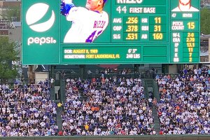 Anthony Rizzo on scoreboard