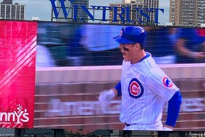 Anthony Rizzo on video board - September 13, 2019