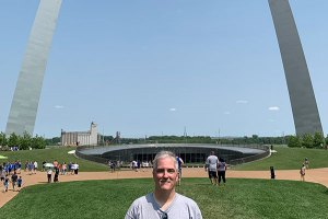 Pat at the Arch