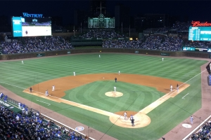The lights are on at Wrigley