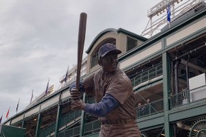 Ernie Banks Statue - April 24, 2019
