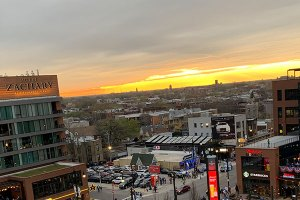 Sunset over Gallagher Way - April 24, 2019