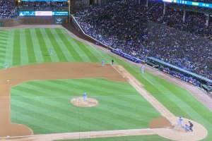 Cubs v. Dodgers game action - April 24, 2019