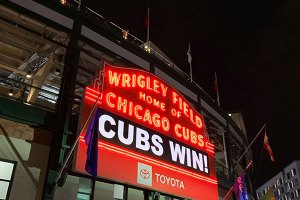 Cubs Win on Scoreboard from a distance - April 24, 2019