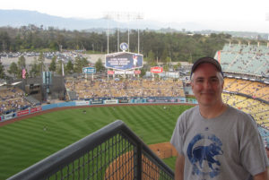 Pat at Dodger Stadium