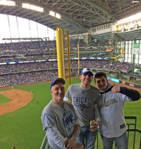 pat, Tommy and Brewer fan at Miller Park