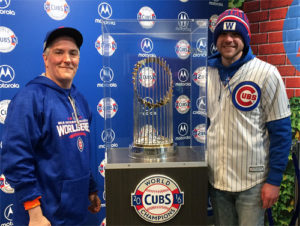 Pat, Tommy, and the 2016 World Series Trophy